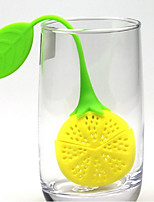 Lemon Design Silicone Tea Strainer