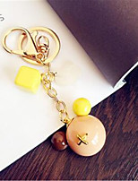 Candy Color Mickey Head Color Box Car Keychain