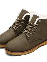 Men's Boots Fall / Winter Comfort / Combat Boots  Casual Flat Heel Lace-up Black / Blue / Green / Khaki Walking