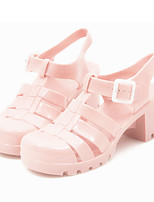 Women's Sandals Summer Slingback Leatherette Casual Chunky Heel Others Blue Pink Nude Others