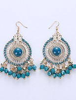 Europe And The United States Eardrop Of Fashion And Personality National Wind Disc Tassel Earrings