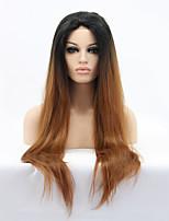 Sylvia синтетический парик фронта шнурка черные коричневые волосы ломбера жаропрочные длинные прямые синтетические парики