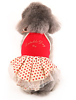 Dog Dress Red Dog Clothes Summer / Spring/Fall Flower Classic / Casual/Daily /