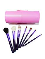 7 Makeup Brushes Set Nylon Portable Wood Face G.R.C