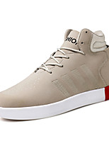 Men's Boots Spring / Fall / Winter Comfort Suede Outdoor / Casual Flat Heel Lace-up Black / Red / Khaki Walking