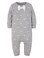 Baby Casual/Daily Print Clothing Set-Cotton-Fall-White / Gray