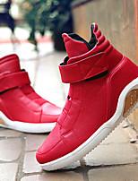 Femme-Décontracté-Noir Rouge Blanc-Talon Plat-Confort-Baskets-Synthétique