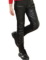 Girl Casual/Daily Solid Pants-Faux Leather Spring / Fall