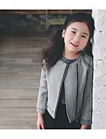 Giubbino e cappotto Girl Casual Tinta unita Cotone Inverno / Autunno Grigio
