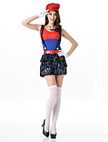 Super Mario Costume Women Iuigi Costume Clothing Plumber Costume