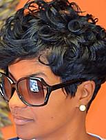 perruques synthétiques perruque synthétique bouclés courts cheveux courts chaleur perruque noire synthétique résistant