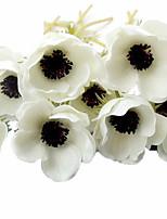 7pcs/Set 7 Филиал Полиуретан Розы Букеты на стол Искусственные Цветы 2.75 inch X 15.7 inch