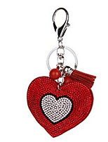 Heart-Shaped Keychain Love Diamond Bag Small Pendant Pendant Car Key Creative Gift