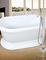 Art Deco/Retro / Modern Tub And Shower Widespread / Handshower Included  / Pullout Spray with  Ceramic