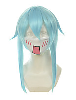 Sword Art Online  Asada Shino Ice Blue Medium-Length Halloween Wigs Synthetic Wigs Costume Wigs