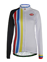 Sports Cycling Jersey Women's Long Sleeve Breathable / Thermal / Warm / Back Pocket / Ultra Light Fabric Bike Jersey
