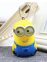 Creative Cartoon Cute Couple Big White Key Chain Small Yellow Man Bag Pendant