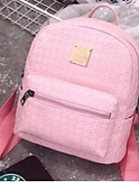 Women PU Casual Backpack White / Pink / Gold / Silver / Black