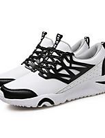 Hombre-Tacón Plano-Confort-Zapatillas de deporte-Deporte-PU-Negro Rojo Blanco