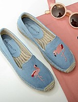 Women's Loafers & Slip-Ons Spring Summer Comfort PU Casual Flat Heel Animal Print Blue Almond Others