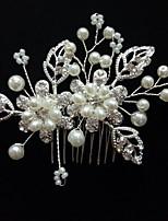 Vrouwen Bergkristal Licht Metaal Helm-Bruiloft Speciale gelegenheden Informeel Buiten Haarkammen 1 Stuk