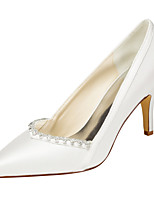 Women's Heels Spring / Fall Others Stretch Satin Wedding / Party & Evening / Dress Stiletto Heel Crystal Ivory / White Others