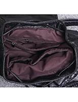 Casual Backpack Women PVC Beige Brown Red Black