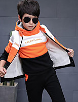 Boy Casual/Daily Color Block Sets,Cotton Winter ¾ Sleeve Clothing Set