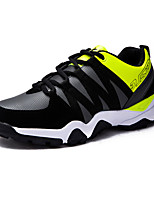 Men's Sneakers Fall / Winter Comfort PU Athletic Flat Heel Lace-up Green / Black and White / Orange Sneaker