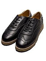 Черный Коричневый Серый-Мужской-Повседневный-Полиуретан-На плоской подошве-Удобная обувь Баллок обувь-На плокой подошве