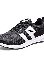 Men's Sneakers Spring Fall Comfort Tulle Casual Flat Heel Lace-up Black Blue Running