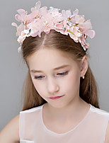 Women's Pearl Crystal Polyester Headpiece-Wedding Special Occasion Casual Office & Career OutdoorTiaras Headbands Flowers Head Chain Hair