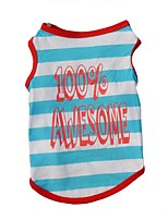 Dog Shirt / T-Shirt / Vest Blue Dog Clothes Winter / Summer / Spring/Fall StripeCute / Sports / Fashion / Casual/Daily / Birthday /