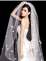 Wedding Veil One-tier Chapel Veils Ribbon Edge Pencil Edge Tulle