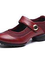 Na míru-Dámské-Taneční boty-Taneční tenisky / Moderní-Koženka-Kačenka-Černá / Červená
