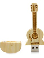 Wooden Guitar USB Flash Drive Disk 8GB USB 2.0 Gift Pen Drive