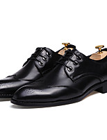 Men's Oxfords Spring / Fall Comfort PU Casual Flat Heel Others / Lace-up Black / Red / Gray Others