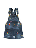 Girl's Casual/Daily Print DressCotton Spring / Fall Blue