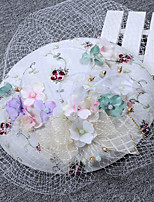 Newstyle Simple Flannelette Flower Gauze Hat