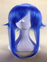 Fashion Bright Blue Cosplay Wig Anime  55cm Long  Vocaloid Gumi Women Synthetic Hair Party Costume Wigs