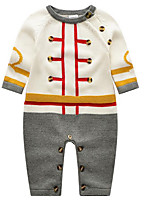 Baby Casual/Daily Solid Clothing Set-Cotton-Spring / Fall-White