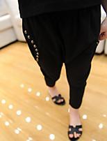 Mädchen Hose-Lässig/Alltäglich einfarbig Baumwolle Herbst Schwarz