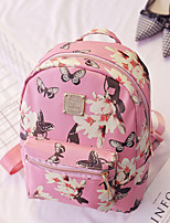 Casual Backpack Women PU White Pink Black