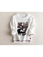 Boy's Casual/Daily Solid Hoodie & SweatshirtCotton Fall White