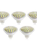 5W GU10 / GX5.3 LED-spotlampen MR16 60led SMD 2835 500lm lm Warm wit / Koel wit Decoratief V 5 stuks