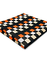 Mens Pocket Square Orange Checked Handkerchief Hanky For Men Fashion Wedding