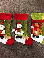 détenteurs cadeaux de chaussettes de tissu de Noël sacs décoration d'arbre cerfs motif de bonhomme de neige noël grande mode sac noël