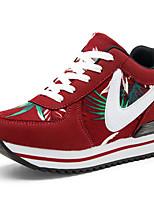 Damen-Sportschuhe-Lässig-Stoff-Flacher Absatz-Komfort-Schwarz Grün Rot
