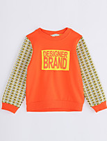 Girl Casual/Daily Geometric Blouse,Cotton Fall Long Sleeve Regular