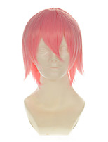 Death SzayelAporro Granz Slight Pink All-purpose Upturned Short Halloween Wigs Synthetic Wigs Costume Wigs